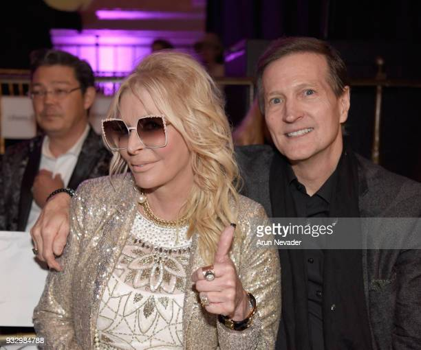 JoAnn Hilton and Dr McCoy Moretz attend Los Angeles Fashion Week Powered by Art Hearts Fashion LAFW FW/18 10th Season Anniversary Backstage and Front...