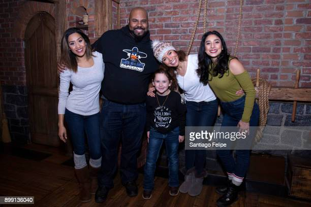 Joanna A Jones James Monroe Iglehart Lexi Lawson and Lauren Boyd of Hamilton pose for photos backstage w Macey Hensley after the show at Richard...