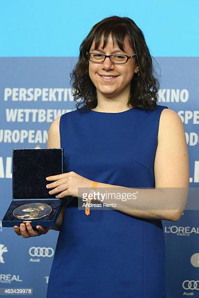 Joanna Arnow winner of the Silver Bear Jury Prize for 'Bad At Dancing' movie attends the Award Winners press conference during the 65th Berlinale...