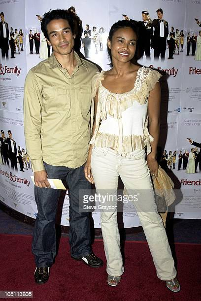 Joanna Bacalso and husband during Friends and Family Los Angeles Premiere at Laemmles Monica 4Plex in Santa Monica California United States