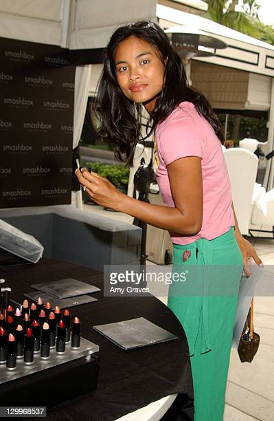 Joanna Bacalso with Smashbox Cosmetics during The Ultimate Crib Day Two at Viceroy Hotel in Santa Monica California United States