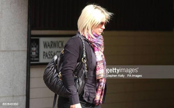 Joanna Barnes leaves the Old Bailey London
