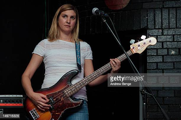 Joanna Bolme of Stephen Malkmus And The Jicks performs on stage at Brudenell Social Club on August 2, 2012 in Leeds, United Kingdom.