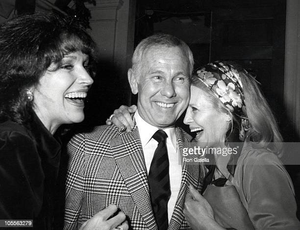 Joanna Carson Johnny Carson and Angie Dickinson during Johnny Carson Productions Presents The Angie Dickinson Show Launch Party at Chasen's...