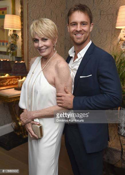 Joanna Cassidy and Sean Kleir attend The Cinema Society Hosts The Season 3 Premiere Of Bravo's 'Odd Mom Out' After Party at the Whitby Hotel on July...