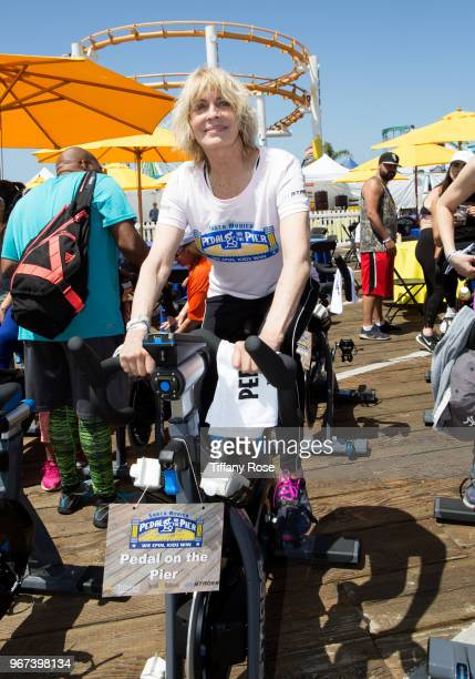 Joanna Cassidy attends the 8th Annual Pedal On The Pier Fundraiser at Santa Monica Pier on June 3 2018 in Santa Monica California