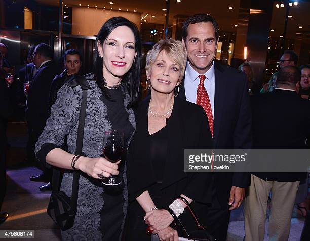 Joanna Cassidy Jill Kargman and Andy Buckley attend the after party for Bravo's screening of Odd Mom Out at Casa Lever on June 3 2015 in New York City