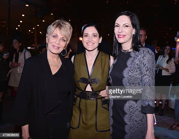 Joanna Cassidy KK Glick and Jill Kargman attend the after party for Bravo's screening of Odd Mom Out at Casa Lever on June 3 2015 in New York City