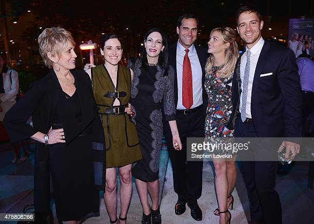 Joanna Cassidy KK Glick Jill Kargman Andy Buckley Abby Elliott and Sean Kleier attend the after party for Bravo's screening of Odd Mom Out at Casa...