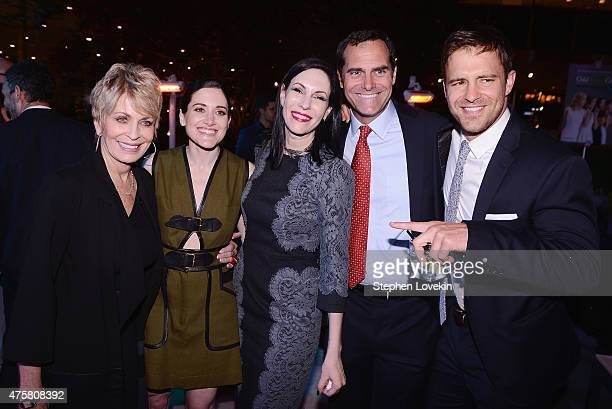 Joanna Cassidy KK Glick Jill Kargman Andy Buckley and Sean Kleier attend the after party for Bravo's screening of Odd Mom Out at Casa Lever on June 3...