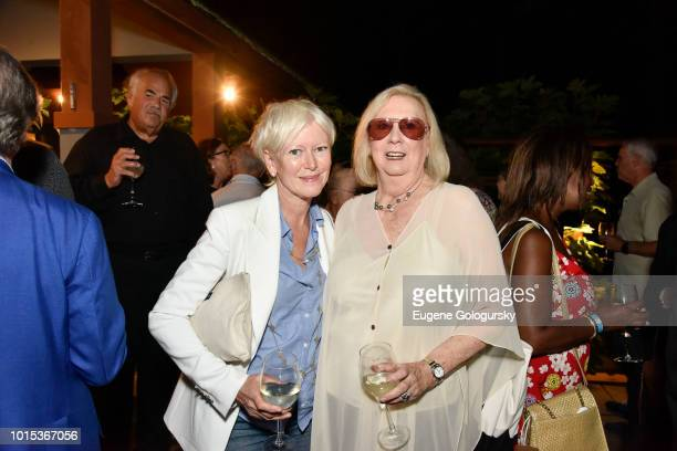 Joanna Coles and Jane Friedman attend Authors Night At East Hampton Library Private Dinner on August 11 2018 in East Hampton New York