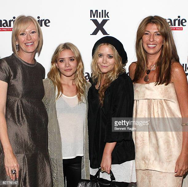 Joanna Coles Ashley Olsen Mary Kate Olsen and Nina Garcia attend a party to welcome Nina Garcia as the new Fashion Director at iMarie Claire at Milk...