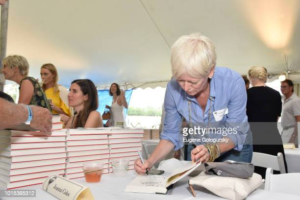 Joanna Coles attends Authors Night At East Hampton Library on August 11 2018 in East Hampton New York