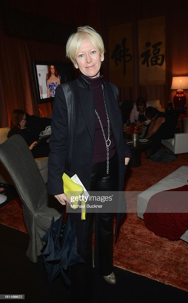 Joanna Coles attends the Mercedes-Benz Star Lounge during Mercedes-Benz Fashion Week Fall 2013 at Lincoln Center on February 11, 2013 in New York City.