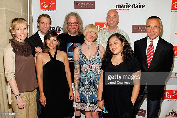 Joanna Coles Editor and Chief of Marie Claire Scott Schramm SVP and GMM of Fashion for Henri Bendel Claudia Trujillo Brand Manager Artist Ron English...