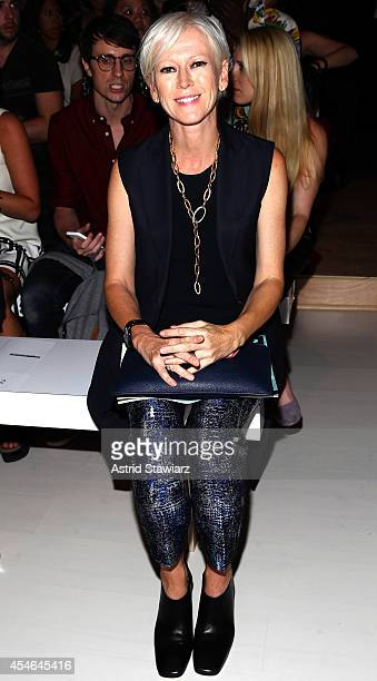Joanna Coles Editor In Chief of Cosmopolitan attends the Marissa Webb fashion show with TRESemme during MercedesBenz Fashion Week Spring 2015 at The...