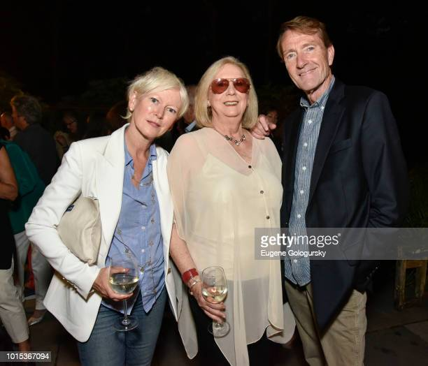 Joanna Coles Jane Friedman and Lee Child attend Authors Night At East Hampton Library Private Dinner on August 11 2018 in East Hampton New York