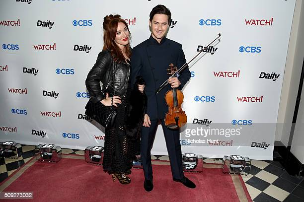 Joanna DellaRagione and violinist Charlie Siem attend The Daily Front Row's celebration of the 10th Anniversary of CBS Watch Magazine at the Gramercy...