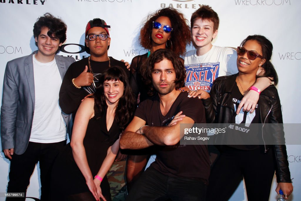 Joanna Erdos and Adrian Grenier and The Skins attend the Oakley and Wreckroom musical presentation at The W hotel on March 15, 2013 in Austin, Texas.