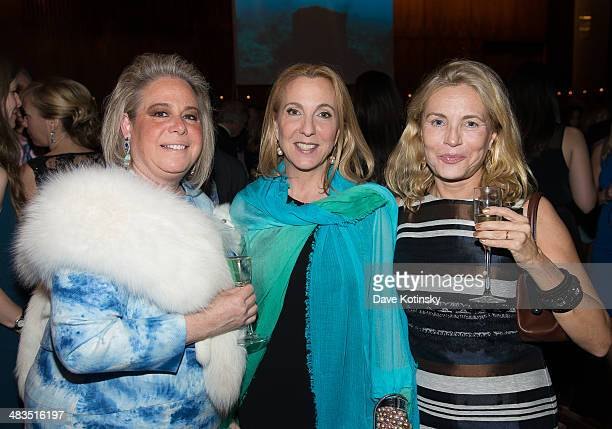 Joanna Fisher and Susan Rockfeller attend Oceana's New York City Benefit at Four Seasons Restaurant on April 8 2014 in New York City