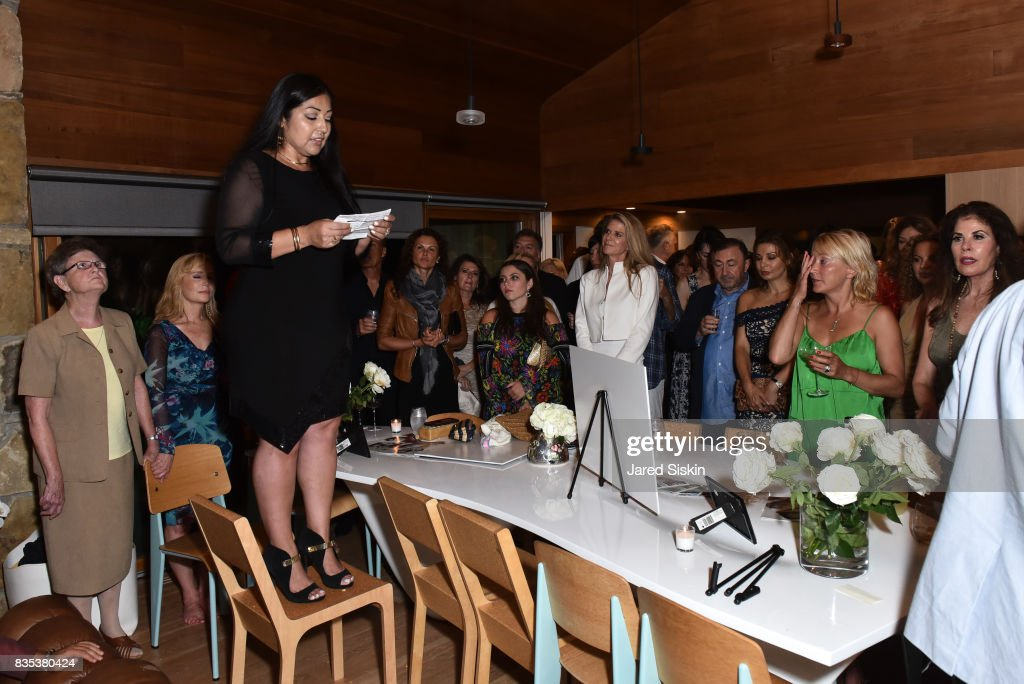 Joanna Florez attends ARTrageous Gala + Art Auction benefitting Hour Children at a Private Residence on August 18, 2017 in Southampton, New York.