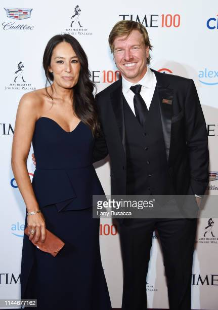 Joanna Gaines and Chip Gaines attend the TIME 100 Gala 2019 Cocktails at Jazz at Lincoln Center on April 23 2019 in New York City