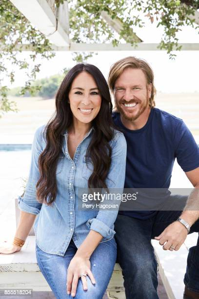 Joanna Gaines and Chip Gaines of HGTV's 'Fixer Uppers' are photographed for People Magazine on June 2 2017 in Waco Texas PUBLISHED IMAGE
