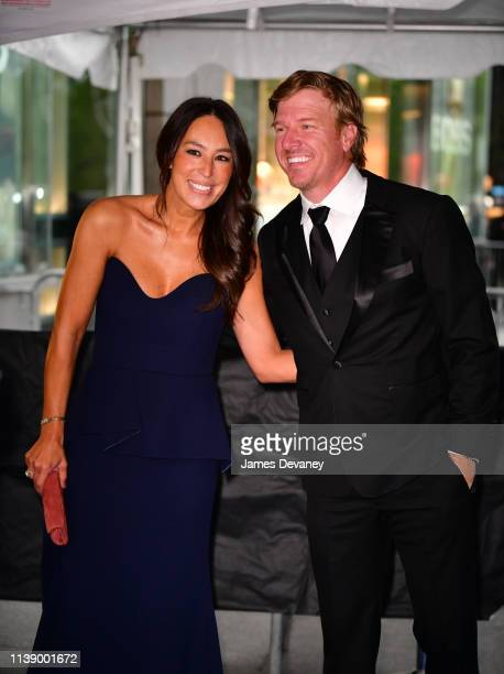 Joanna Gaines and Chip Gaines seen in Columbus Circle on their way to the 2019 Time 100 Gala on April 23 2019 in New York City