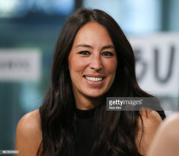 """Joanna Gaines discusses new book, """"Capital Gaines: Smart Things I Learned Doing Stupid Stuff"""" at Build Studio on October 18, 2017 in New York City."""
