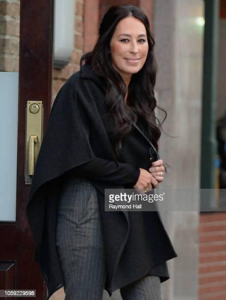 Joanna Gaines is seen walking in soho on November 8, 2018 in New York City.