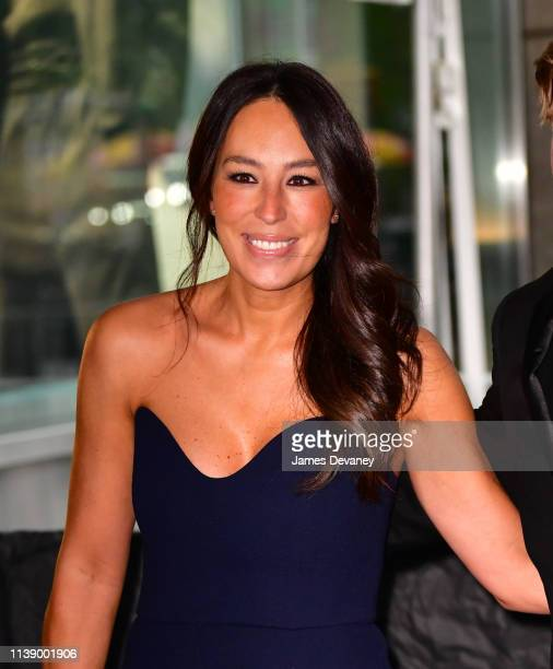 Joanna Gaines seen in Columbus Circle on her way to the 2019 Time 100 Gala on April 23, 2019 in New York City.