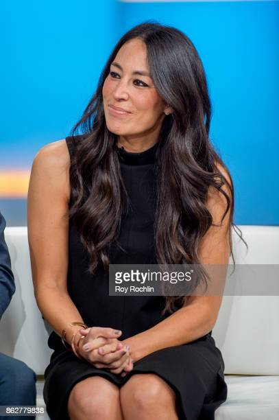 Joanna Gaines visits 'Fox Friends' to discuss the book 'Capital Gaines' and the ending of the show 'Fixerupper' at Fox News Studios on October 18...