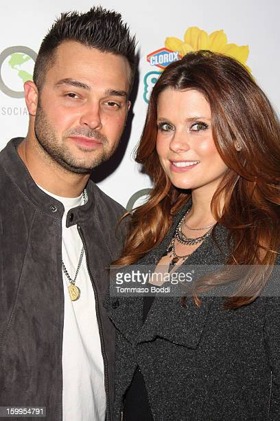 JoAnna Garcia and Nick Swisher attend the 'Green Housewives' screening party held at SUR Lounge on January 23 2013 in Los Angeles California