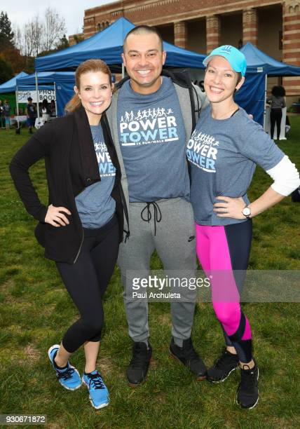 JoAnna Garcia Swisher Nick Swisher and Erin Cummings attend the Power Of Tower run/walk at UCLA on March 11 2018 in Los Angeles California