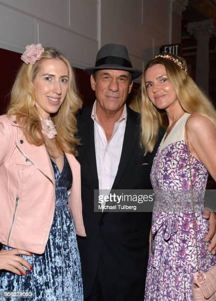 Joanna Garzilli Robert Davi and Evgenia Lorcy attend BritWeek at The Getty Villa on May 8 2018 in Pacific Palisades California