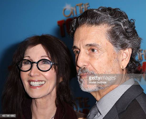 Joanna Gleason and Chris Sarandon attend the Broadway Opening Night Performance of 'On The Town' at the Lyric Theatre on October 16 2014 in New York...