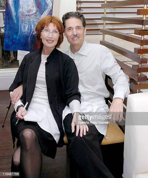 Joanna Gleason and Chris Sarandon during Celebrity Waiters Serve Up Sapa's Southeast Asian Cuisine to Benefit Project ALS at Sapa Restaurant in New...