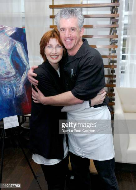 Joanna Gleason and Greg Jbara during Celebrity Waiters Serve Up Sapa's Southeast Asian Cuisine to Benefit Project ALS at Sapa Restaurant in New York...
