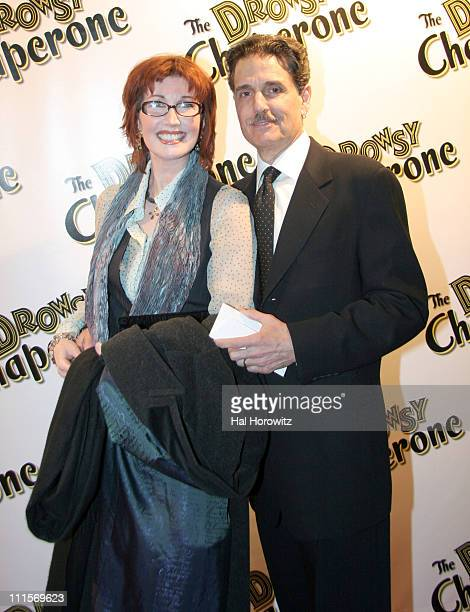 Joanna Gleason and guest during Opening Night of The Drowsy Chaperone at Marquis Theatre in New York City New York United States