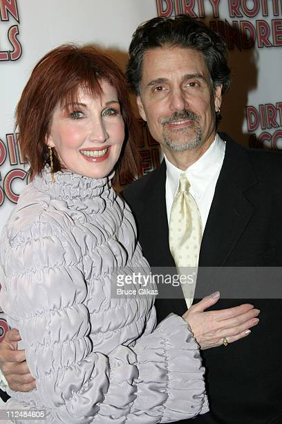 Joanna Gleason and husband Chris Sarandon during Opening Night Curtain Call and Party for Dirty Rotten Scoundrels on Broadway at Imperial Theater...