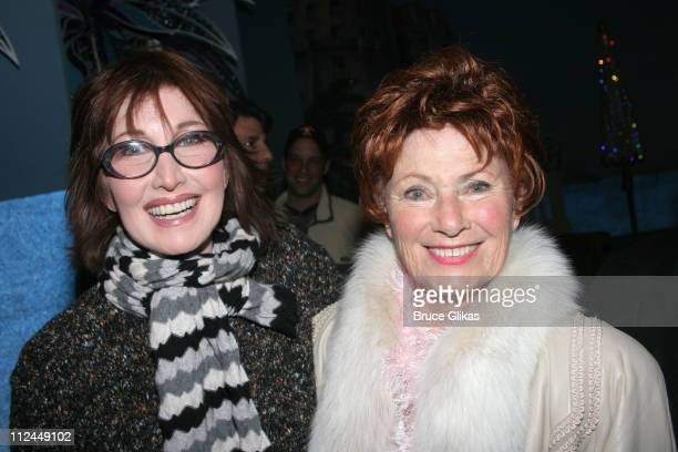 Joanna Gleason and Marion Ross during Celebrities Backstage at Dirty Rotten Scoundrels on Broadway at The Imperial Theater in New York City New York...