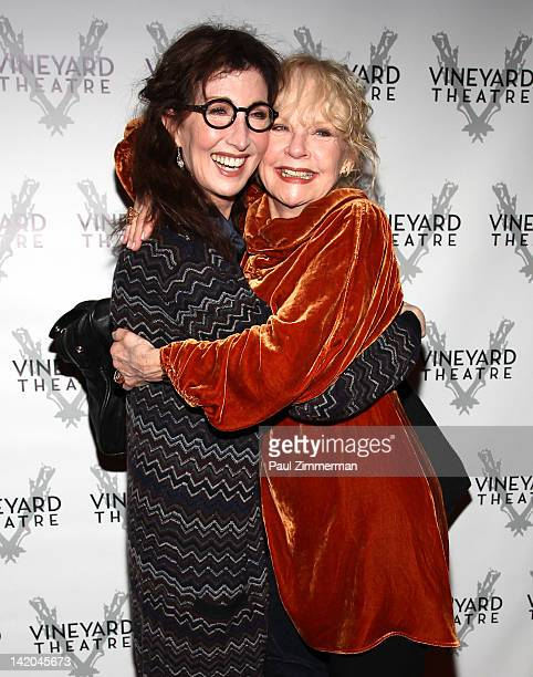 Joanna Gleason and Penny Fuller attend the NOW HERE THIS OffBroadway opening night at the Vineyard Theatre on March 28 2012 in New York City