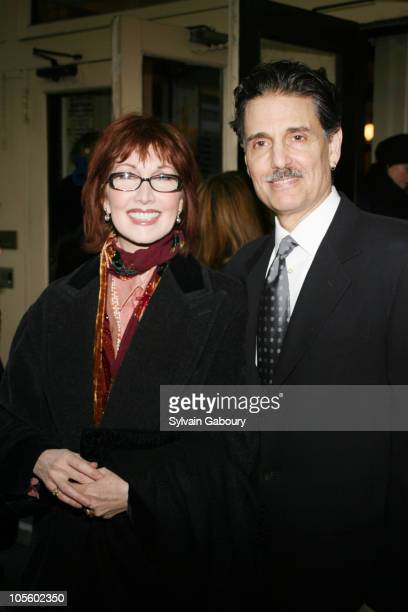 Joanna Gleeson and Chris Sarandon during Opening Night of Broadway's Awake and Sing Arrivals at Belasco Theater in New York NY United States