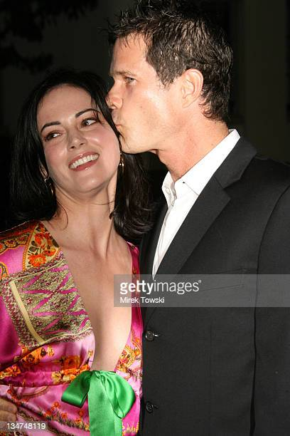 Joanna Going and Dylan Walsh during Season Four premiere of Nip/Tuck Los Angeles Arrivals at Paramount Studios in Hollywood CA United States