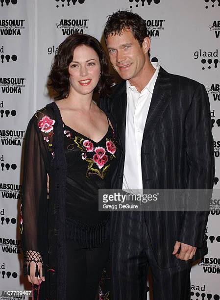 Joanna Going and Dylan Walsh during The 15th GLAAD Media Awards Los Angeles Arrivals at Kodak Theatre in Hollywood California United States