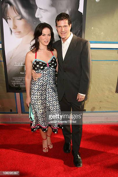 Joanna Going and Dylan Walsh during The Lake House Los Angeles Premiere Arrivals at Cineramadome in Hollywood California United States