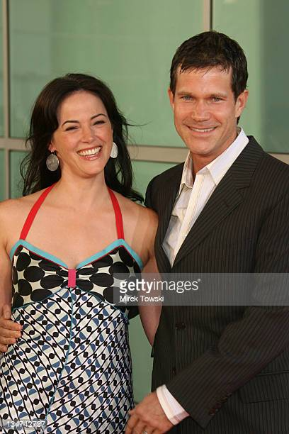 Joanna Going and Dylan Walsh during The Lake House Los Angeles Premiere Arrivals at Arclight Cinerama Dome in Hollywood California United States
