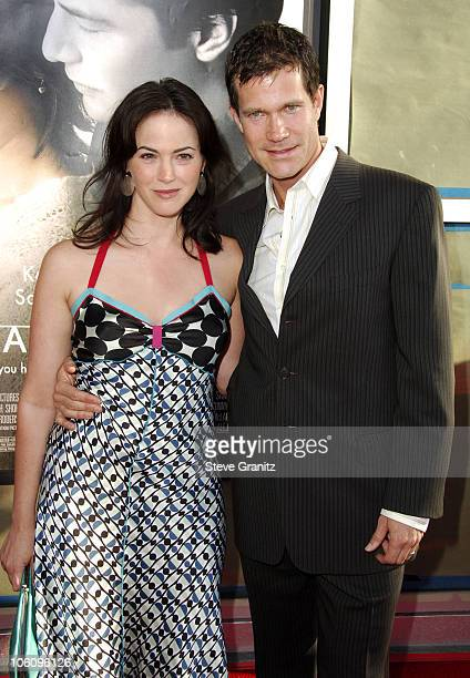 Joanna Going and Dylan Walsh during The Lake House Premiere Arrivals at Cineramadome in Los Angeles California United States