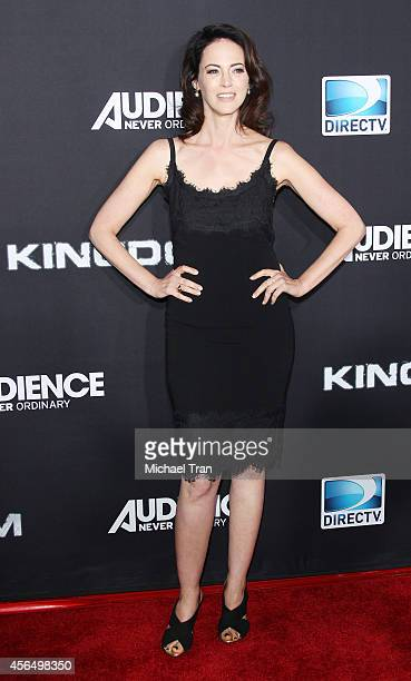 Joanna Going arrives at the Los Angeles premiere of Kingdom held at Muscle Beach on October 1 2014 in Venice California