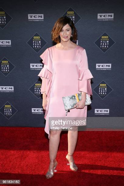 Joanna Going attends the 2018 TCM Classic Film Festival Opening Night Gala 50th Anniversary World Premiere Restoration of The Producers at TCL...